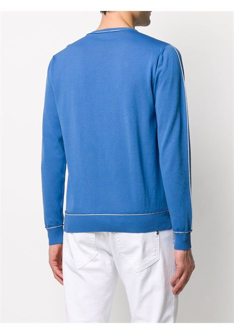 Blue cotton contrast piped jumper featuring a ribbed round neck ELEVENTY |  | A76MAGA27-MAG0A03508