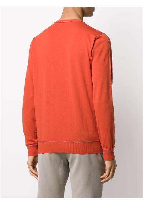 orange cotton cre-neck jumper  ELEVENTY |  | A76MAGA27-MAG0A03540