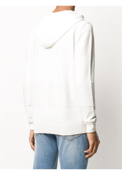 white and brown cotton contrast panel hooded jumper ELEVENTY |  | A76MAGA63-MAG0A06101-04
