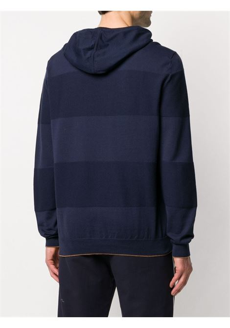 blue cotton striped knit hoodie ELEVENTY |  | A76MAGA63-MAG0A06111-04