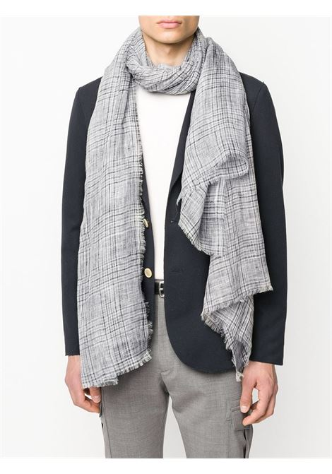 light grey plaid scarf in linen ELEVENTY |  | A77SCIA06-TES0A23311
