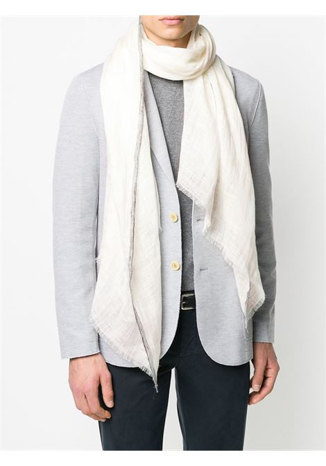 white linen frayed trimmed scarf ELEVENTY |  | A77SCIA09-TES0A23601