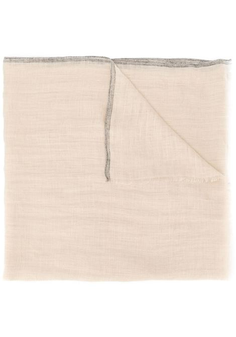 linen oyster beige frayed scarf ELEVENTY |  | A77SCIA09-TES0A23602