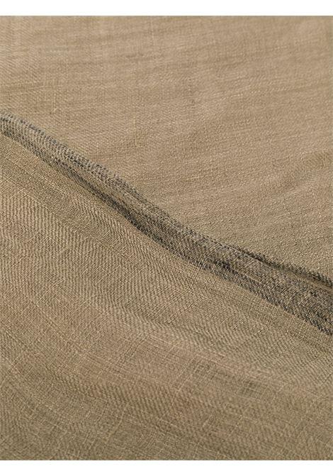 linen frayed cedar brown trimmed scarf ELEVENTY |  | A77SCIA09-TES0A23607
