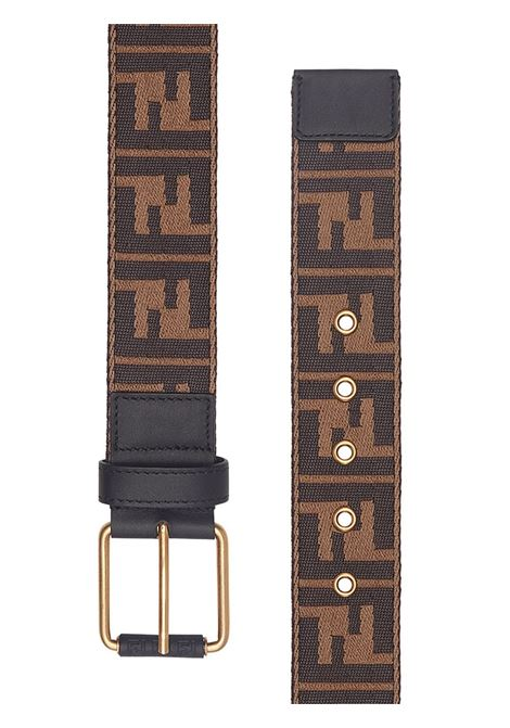 Zucca motif brown belt with gold details FENDI |  | 7C0367-A4K9F147Y