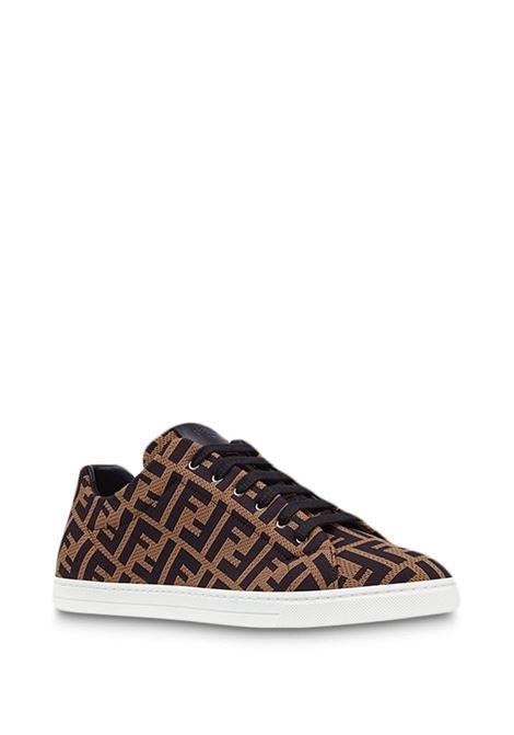 Fendi Zucca all over print nylon low-top sneakers FENDI      7E1258-A7MYF0R7R