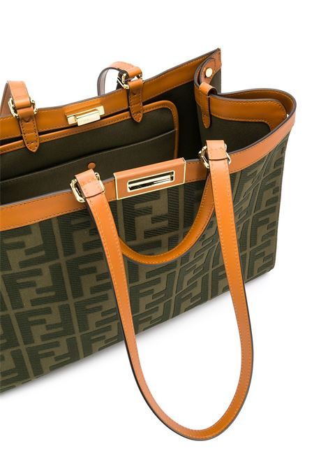 Peekaboo X canvas and leather tote bag with front Fendi Zucca print  FENDI |  | 8BH374-A9P6F1891