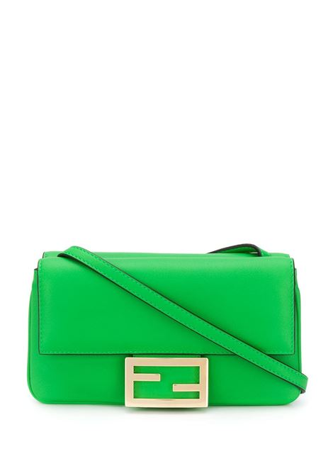 mini-leather green Baguette Duo with golden front Fendi plaque FENDI |  | 8BS040-A5DYF1B14