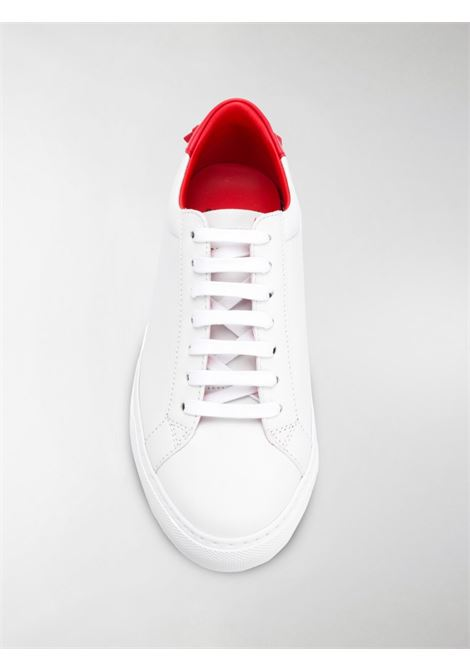Urban Street white calf leather sneakers with red rope detail GIVENCHY |  | BE0003E0DC112