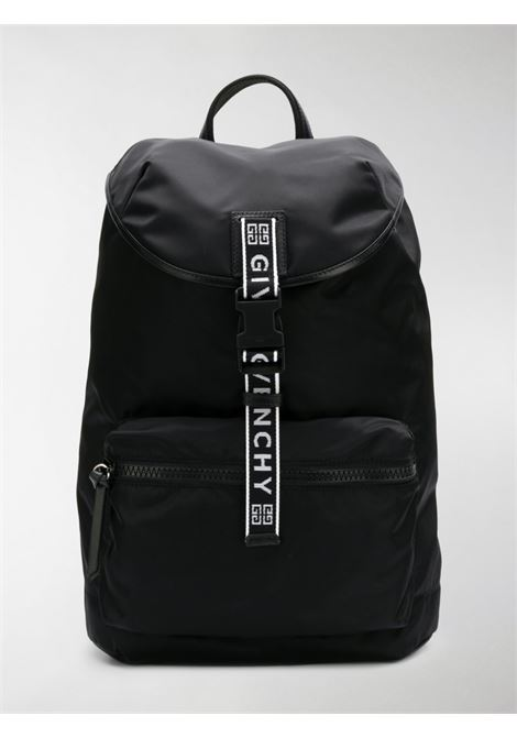 zaino in nylon nero Light 3 con banda logata frontale GIVENCHY | Borsa | BK500MK0B5-LIGHT 3004