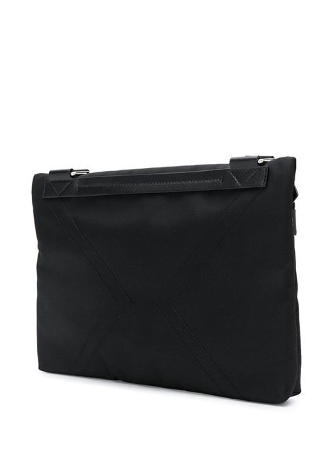 black nylon messenger bag with front white logo patch GIVENCHY |  | BK5063K0S9-DOWNTOWN001