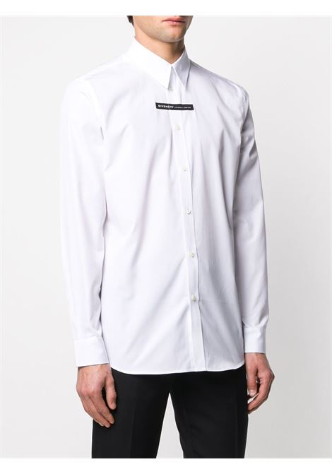 white 100% cotton shirt with black Givenchy white lettering logo GIVENCHY |  | BM60G4109F100