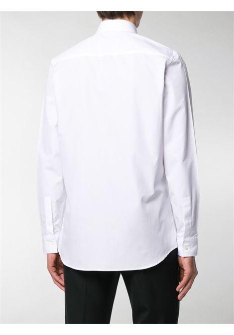 camicia in cotone bianco con pannello nero logato GIVENCHY | Camicie | BM60G4109F100