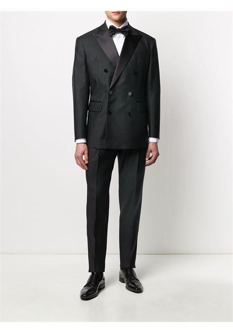 camicia da smoking in cotone bianco con logo nero GIVENCHY | Camicie | BM60GV100J100