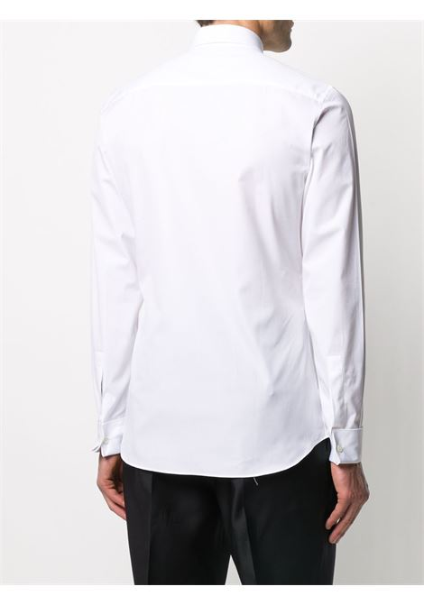 100% white cotton smoking shirt with black Givenchy logo embroidered GIVENCHY |  | BM60GV100J100