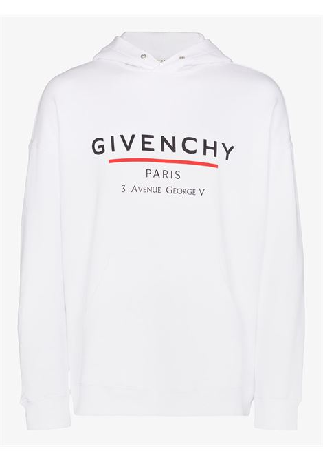 white cotton Givenchy printed logo hoodie GIVENCHY |  | BMJ05430AF100