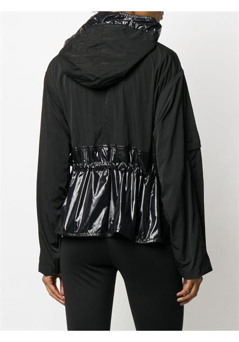 black cropped multi-black nylon wind-breaker with white drawstring GIVENCHY |  | BW007X10T4001