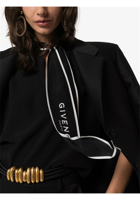 black sleveless silk scarf blouse with Givenchy logo GIVENCHY |  | BW60GA12EH001
