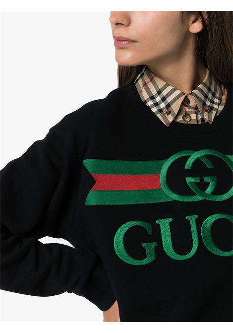 felpa nera di cotone oversize GUCCI | Maglieria Moda | 469250-XJCCG1082