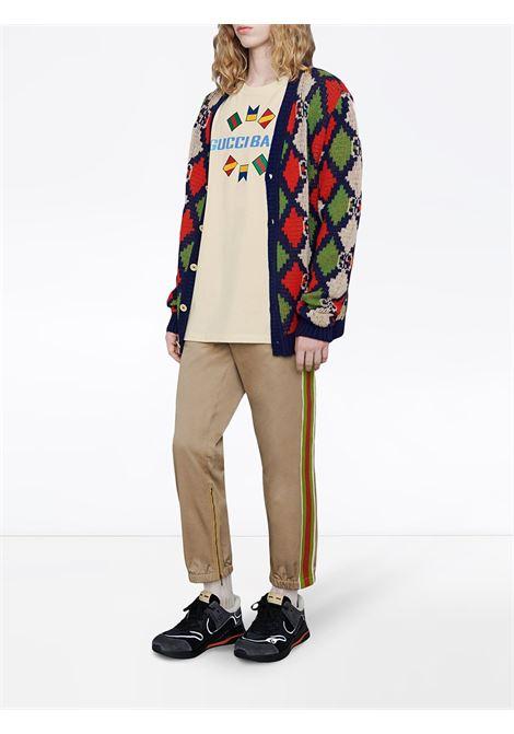 ivory creneck Gucci Band flag t.shirt GUCCI |  | 565806-XJB2X9756