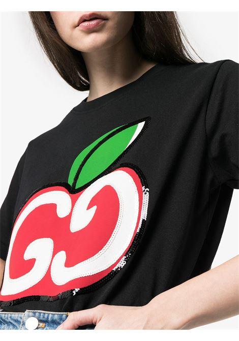 Gucci apple logo cotton t.shirt GUCCI |  | 580762-XJB7U1082