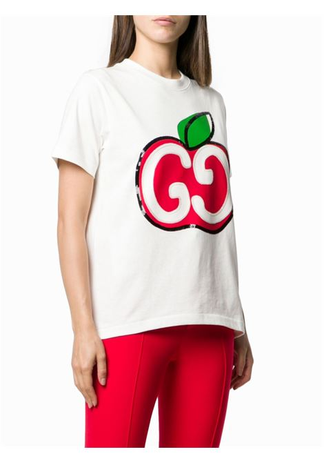 white cotton Gucci Mela logo t.shirt GUCCI |  | 580762-XJB7U9381