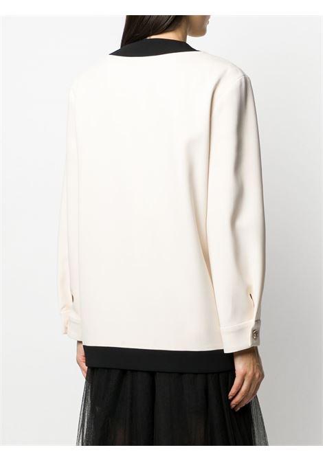 caridgan oversize bianco con profili neri GUCCI | Giacche | 596871-ZKR019102