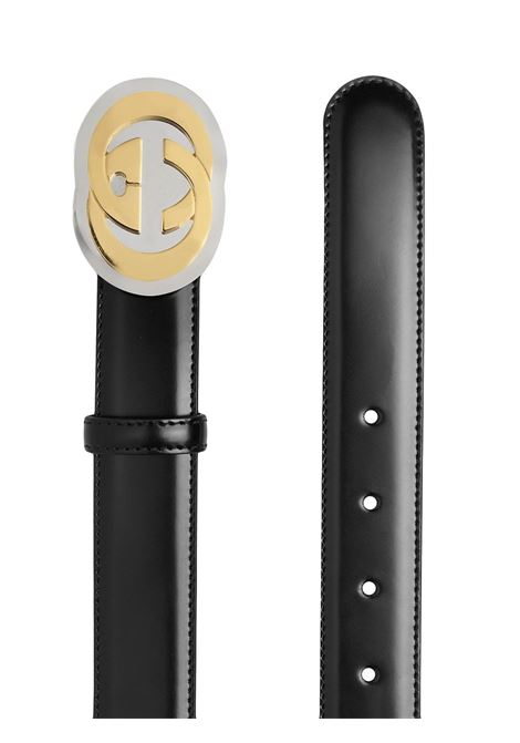 black brushed calf leather belt with round silver buckle GUCCI |  | 598092-DT90X1000