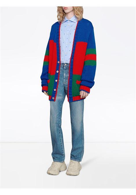 cardigan multicolor in lana pesante GUCCI | Maglieria Moda | 598692-XKA146051