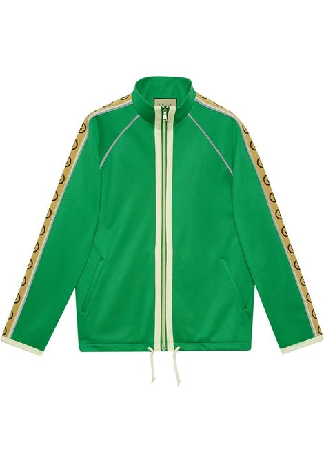 green track jacket with beige Gucci logo on the side GUCCI |  | 598861-XJBZ83072