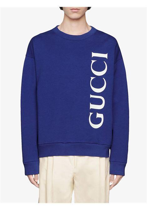 oversized blue Gucci logo sweatshirt GUCCI |  | 599345-XJB1C4118