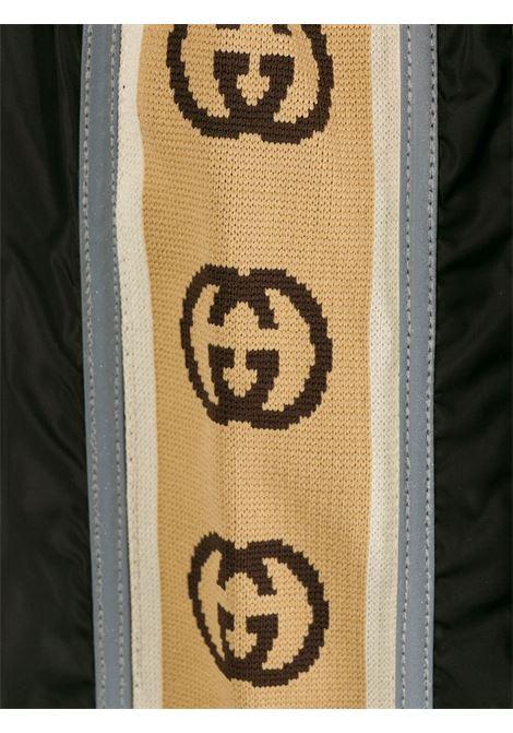 costume a pantaloncino nero in nylon banda Gucci laterale GUCCI | Costume | 599552-XHABX1082