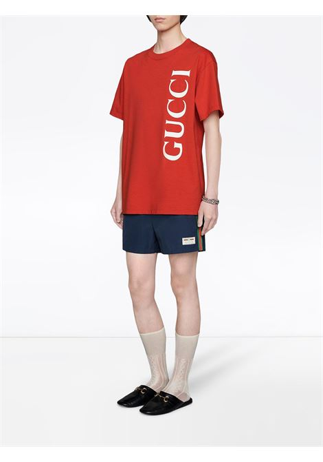 navy blu nylon Gucci Web side brand swim short GUCCI |  | 599585-XHAB74728