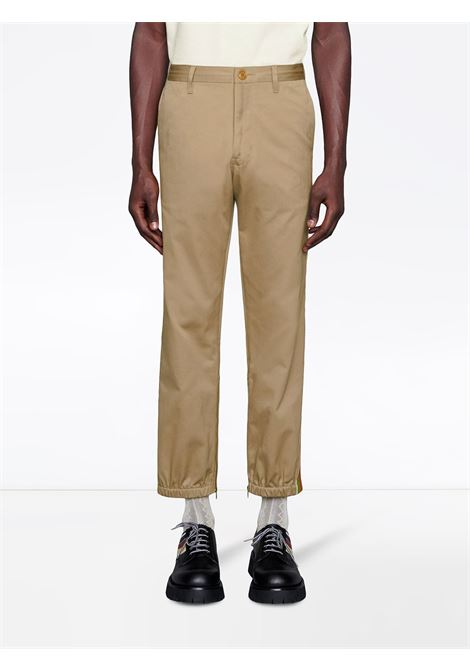 cream Gucci track pants with Web side band GUCCI |  | 604187-XDA1R2821