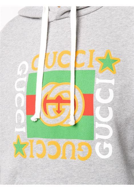 grey cotton Gucci printed logo hoodie GUCCI |  | 605154-XJCCD1230