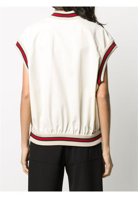 white cotton gilet with contrasting Web details GUCCI |  | 605591-XJCBW9381