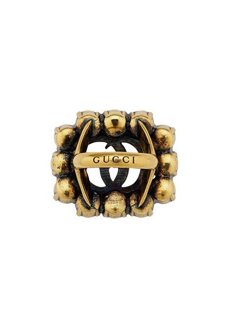 gol-tone metal Gucci logo and Swarovski crystal ring GUCCI |  | 605820-J1D508066