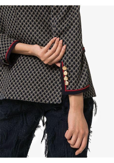 navy blu cotton Damier print Gucci jacket GUCCI |  | 609334-ZAC6I4447