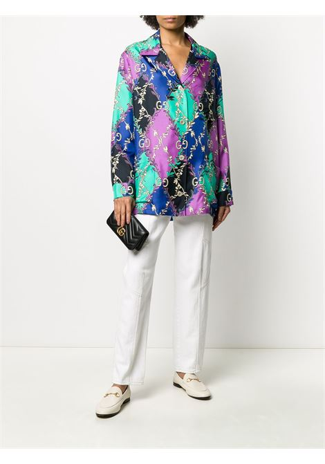 multicolor  silk bowling shirt with Gucci logo GUCCI |  | 609466-ZADFN5125