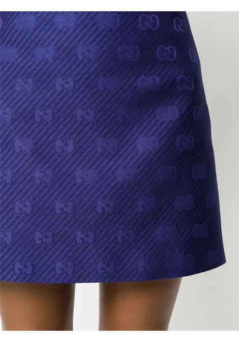 blue A-line short skirt with GG monogram logo GUCCI |  | 609775-ZADC74142