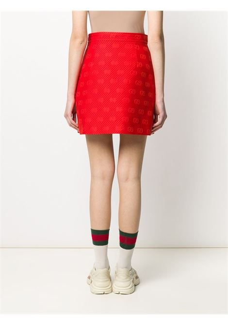 red A-line skirt with GG monogram logo  GUCCI |  | 609775-ZADC76049