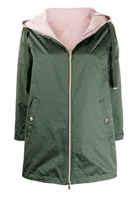 Khaki green and pink cotton-blend reversible hooded parka HERNO |  | GC0276D-122897700