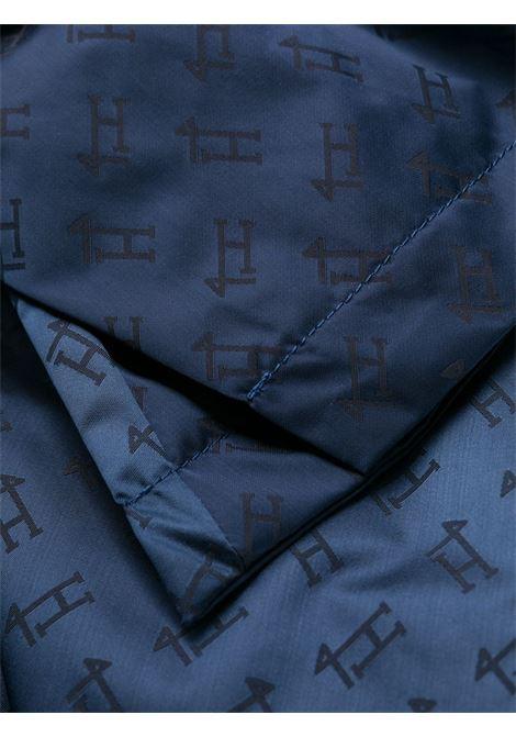 Trench in raso con monogramma Herno blu perla HERNO   Impermeabili   IM0121D-122899201