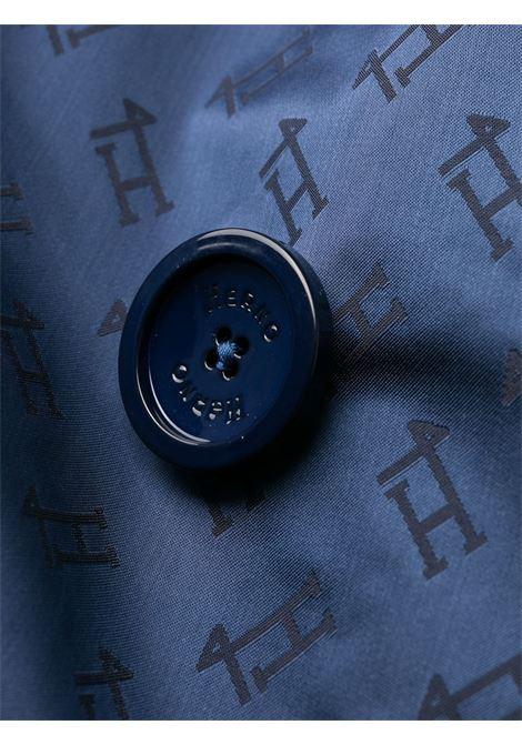 Trench in raso con monogramma Herno blu perla  HERNO |  | IM0121D-122899201