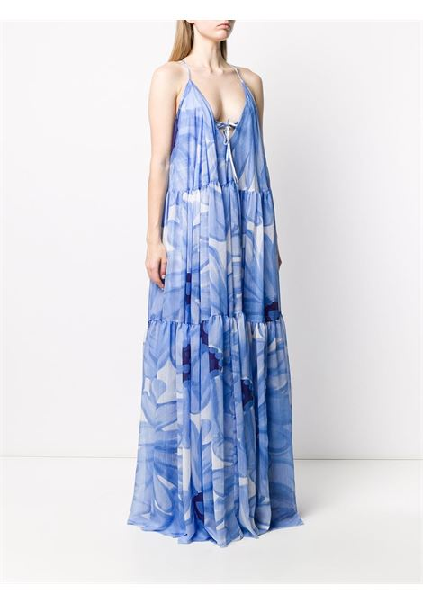 long Le Robe Mistral light blue flower print dress JACQUEMUS |  | 201DR012834E