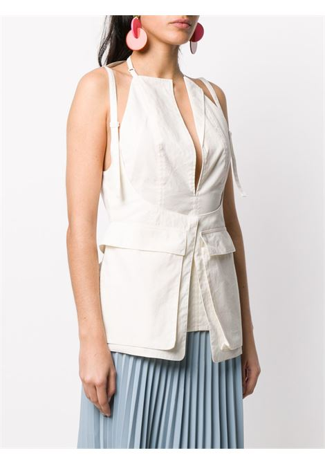 top in cotone color latte Le Haut Ascea Jacquemus | Maglieria Moda | 201TO0523110
