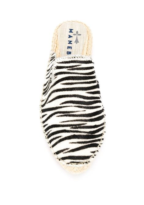 Dakota espadrillas mules in zebra-pattern MANEBI' |  | F 3.3 M0BIANCO-NERO
