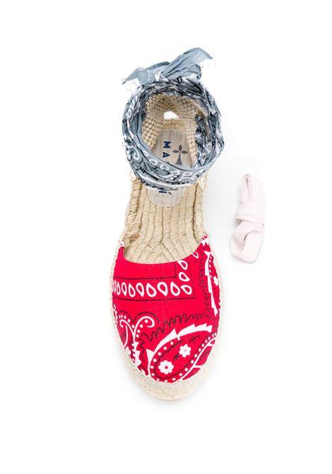 Valencia sandal with flat rubber sole and cotton multicolor bandana print MANEBI' |  | F 9.4 P0ROSSO-GRIGIO