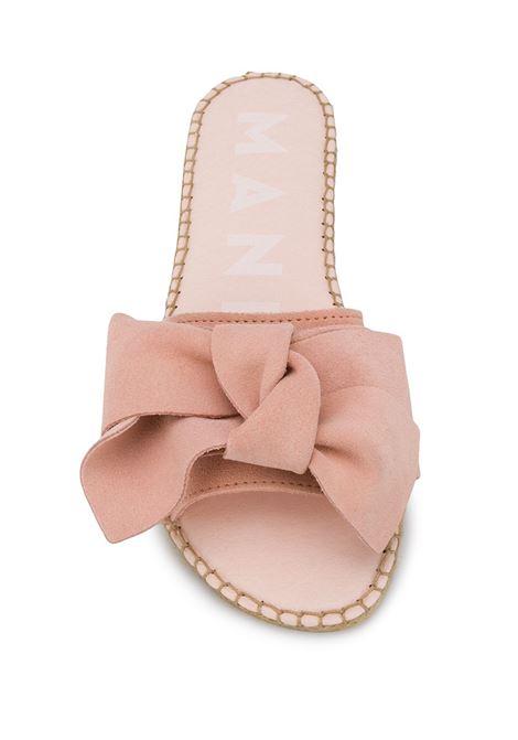 rose pink jute and suede Hamptons slides MANEBI' |  | W 1.4 J0CIPRIA