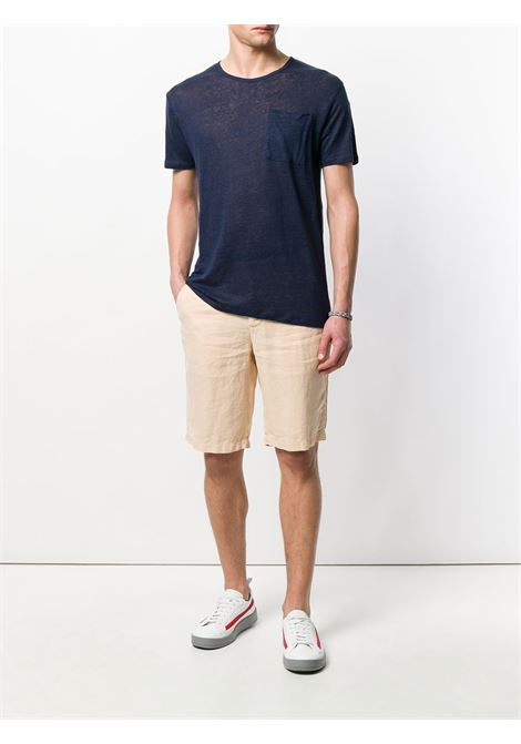 navy blue linen Ecstasea sheer T-shirt  MC2 |  | ECSTASEA LONGBLUE NAVY
